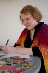 Anne Marie Doing a Card Interpretation